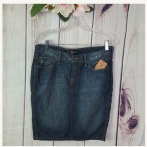Lucky Brand Jean Skirt Distressed sz 4/27